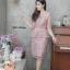 เดรสเกาหลี พร้อมส่ง Dress ลูกไม้เอวระบาย thumbnail 11