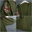 เสื้อเกาหลี พร้อมส่ง เสื้อคลุม แต่งลายปักดอกไม้เก๋ๆ thumbnail 9