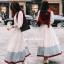 ชุดเดรสเกาหลี พร้อมส่ง Dress ยาวกระโปรงบาน thumbnail 3
