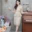 เดรสเกาหลี พร้อมส่ง Dress ลูกไม้เอวระบาย thumbnail 3