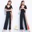 พร้อมส่ง เสื้อ+กางเกงผ้าจอเจียร์ญี่ปุ่น คอวี thumbnail 4