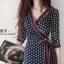 ชุดเดรสเกาหลี พร้อมส่ง Maxi Dress ป้ายหน้า thumbnail 4