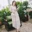 เดรสเกาหลี พร้อมส่ง Dress ชุดลูกไม้ยาวแขนระบาย thumbnail 1
