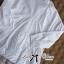 พร้อมส่ง เชิ้ตสีขาวตัดต่อชายลูกไม้สไตล์มินิมัล เสื้อผ้าแฟชั่น thumbnail 7