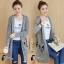 เสื้อเกาหลี ไหมพรมตัวยาวมี3สี พร้อมส่ง thumbnail 9