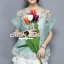 พร้อมส่ง เสื้อเกาหลีลายดอกไม้แต่งประดับ thumbnail 10