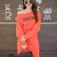 ชุดเดรสเกาหลี พร้อมส่ง Long Dress เดรสแขนยาวเปิดไหล่ thumbnail 14