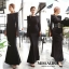 ชุดเดรสเกาหลี พร้อมส่ง maxi dress ยาวสีดำ thumbnail 1