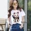 เสื้อเกาหลี พร้อมส่ง T-Shirt ลายแมว thumbnail 1