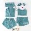 พร้อมส่ง เสื้อสายเดี่ยว+เสื้อชุดนอนแขนยาว+กางเกงเอวยางยืด thumbnail 5