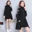 เดรสเกาหลี พร้อมส่ง Mini Dress คอเต่า แขนยาว thumbnail 1