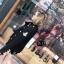 เสื้อเกาหลี พร้อมส่ง เสื้อคลุมแขนยาวเก๋ ๆ สีดำ thumbnail 5