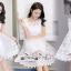 เดรสเกาหลี พร้อมส่ง เดรสสีขาวเนื้อผ้าTulleแบบโปร่ง thumbnail 3