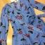 เสื้อผ้าแฟชั่น พร้อมส่ง Jumpsuit สีฟ้าลายใบไม้ thumbnail 3