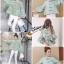 เสื้อเกาหลี พร้อมส่ง เสื้อแขนพอง ทรงกี่เผ้า thumbnail 2