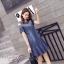 พร้อมส่ง DRESS JEAN FROM KOREA คอกลม thumbnail 9