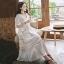 เดรสเกาหลี พร้อมส่ง Dress ชุดลูกไม้ยาวแขนระบาย thumbnail 2