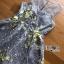 พร้อมส่ง ค็อกเทลเดรสผ้าลูกไม้สีเทาทอลายดอกไม้สีเหลือง thumbnail 7