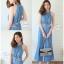 เสื้อผ้าเกาหลี พร้อมส่ง จั๊มสูทยีนส์ขายาว thumbnail 1