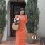 ชุดเดรสเกาหลี พร้อมส่ง Dress คอเหลี่ยม เอวสม๊อคหลัง thumbnail 3