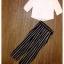 พร้อมส่ง เซ็ทเสื้อ+กางเกง เสื้อเป็นผ้าชีฟองสีขาวคอกลม thumbnail 5
