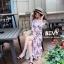 Maxi dress ชุดเดรสเกาหลี งานไขว้ พร้อมส่ง thumbnail 5