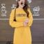 ชุดเดรสเกาหลี พร้อมส่ง Long Dress เดรสแขนยาวเปิดไหล่ thumbnail 9