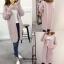 เสื้อเกาหลี พร้อมส่ง เสื้อคลุมไหมพรมตัวยาว thumbnail 7