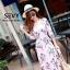 Maxi dress ชุดเดรสเกาหลี งานไขว้ พร้อมส่ง thumbnail 2
