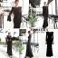 ชุดเดรสเกาหลี พร้อมส่ง maxi dress ยาวสีดำ thumbnail 2