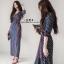 ชุดเดรสเกาหลี พร้อมส่ง Maxi Dress ป้ายหน้า thumbnail 1