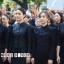 เสื้อผ้าเกาหลี พร้อมส่ง เสื้อสีดำ กับ กระโปรงยาว thumbnail 1