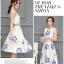เดรสเกาหลี พร้อมส่ง เดรสผ้าซาติน เนื้อนิ่ม เงาสวย thumbnail 4