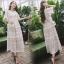 เดรสเกาหลี พร้อมส่ง Dress ชุดลูกไม้ยาวแขนระบาย thumbnail 4