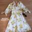 พร้อมส่ง mini dress ลาย(ส้ม) ผ้าเงาๆลื่นๆ thumbnail 5