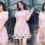 ชุดเดรสเกาหลี พร้อมส่ง เดรสโทนสีชมพูหวานๆ thumbnail 4