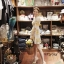 พร้อมส่ง mini dress ลาย(ส้ม) ผ้าเงาๆลื่นๆ thumbnail 3