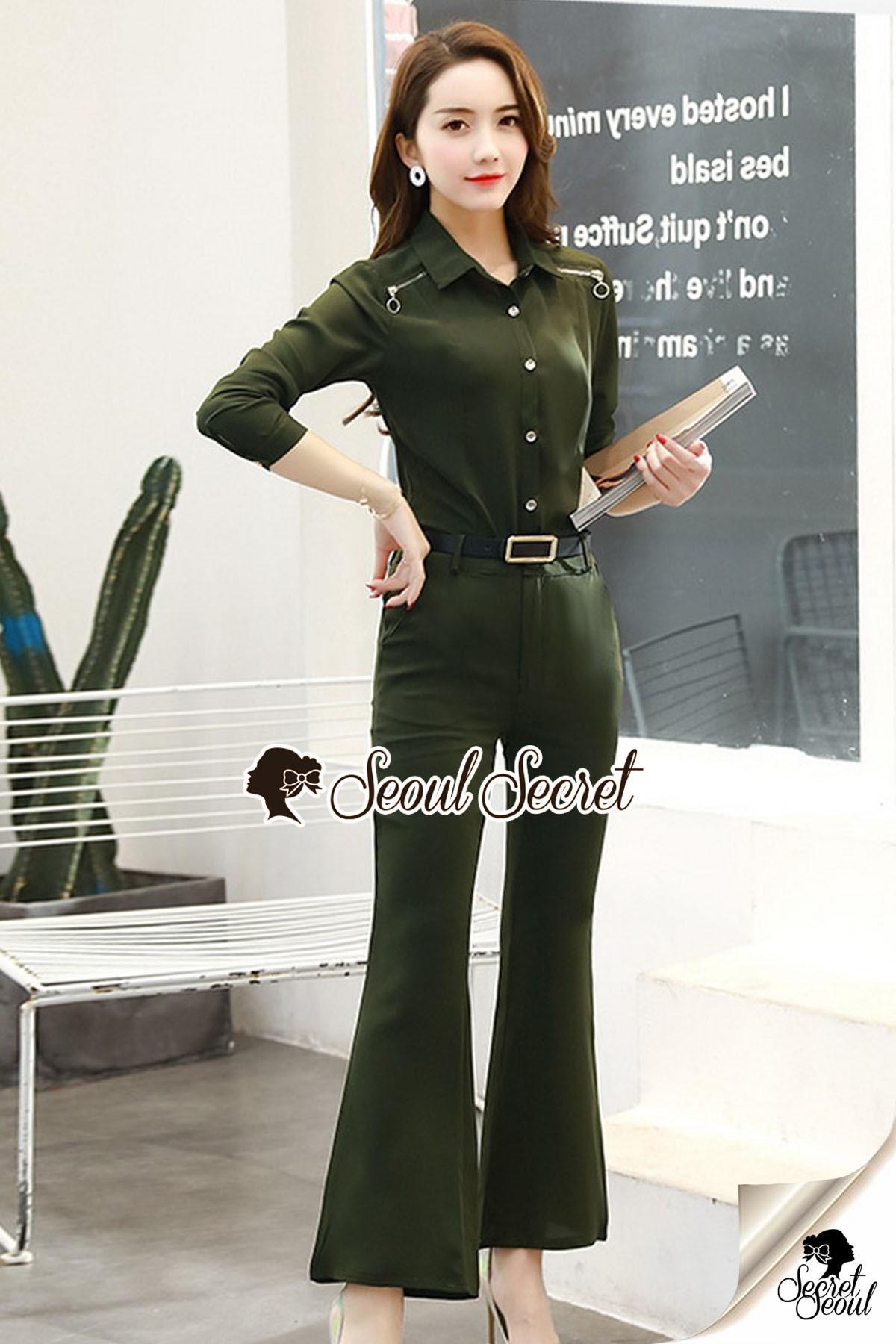 เสื้อผ้าเกาหลี พร้อมส่ง เสื้อลุค Working Woman