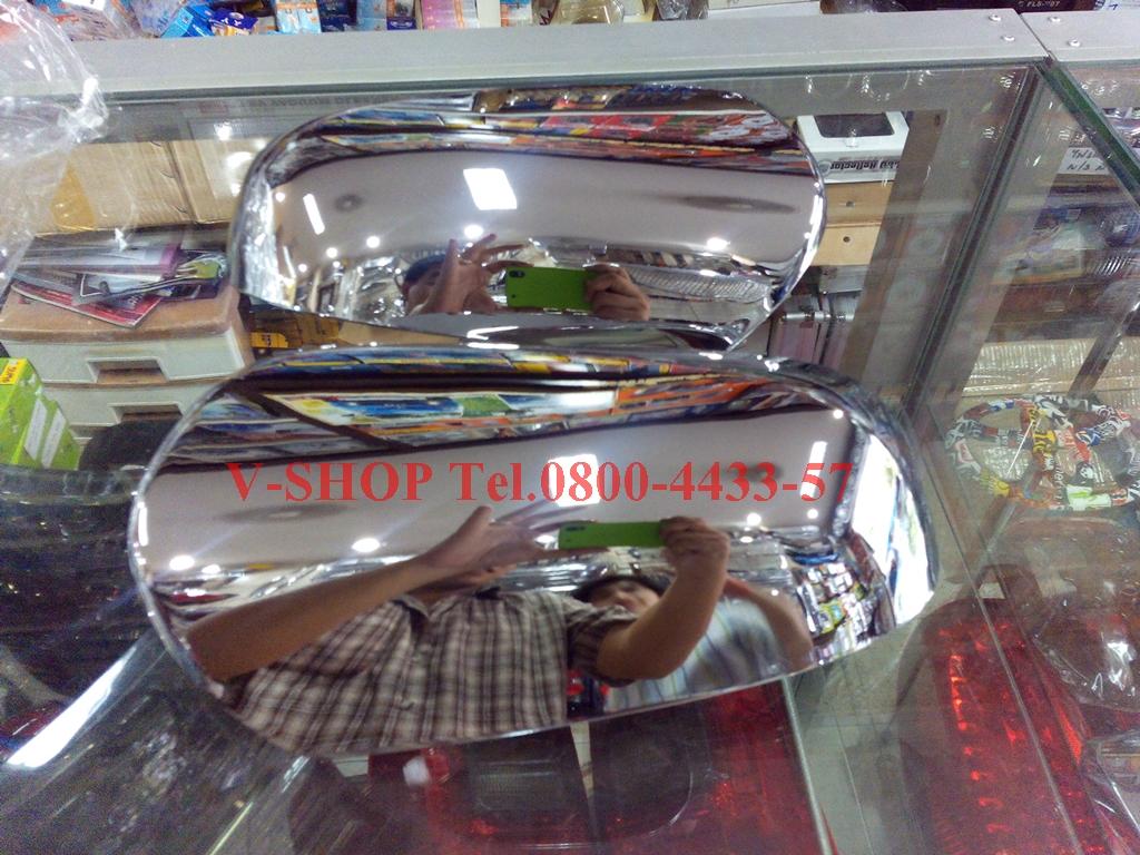 ครอบกระจกมองข้างโครเมี่ยม New VIOS 2013 รุ่น J/E