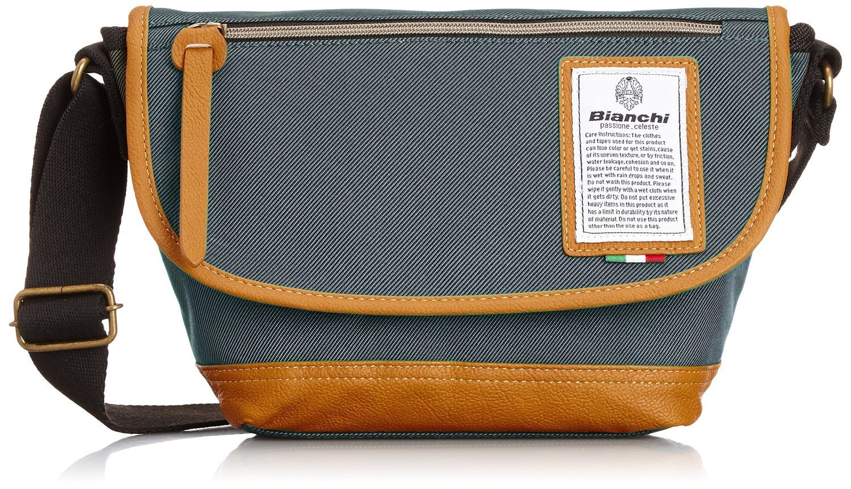 Bianchi - LBT35 : A3 Messenger Silver (สีเทาเงิน/ ขอบหนังสีน้ำตาล)