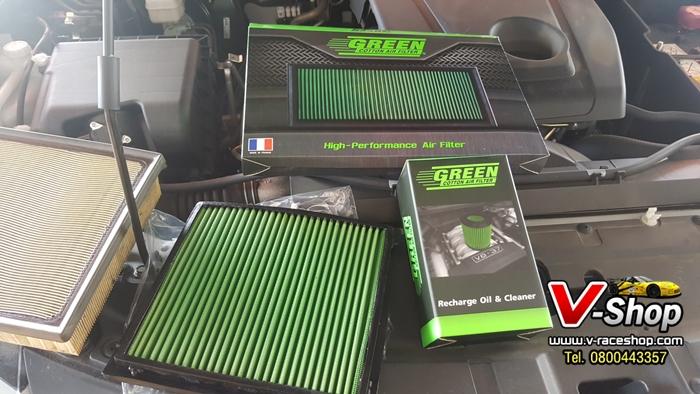 กรองอากาศ Green Filter ตรงรุ่น New Pajero sport (เฉพาะกรอง)