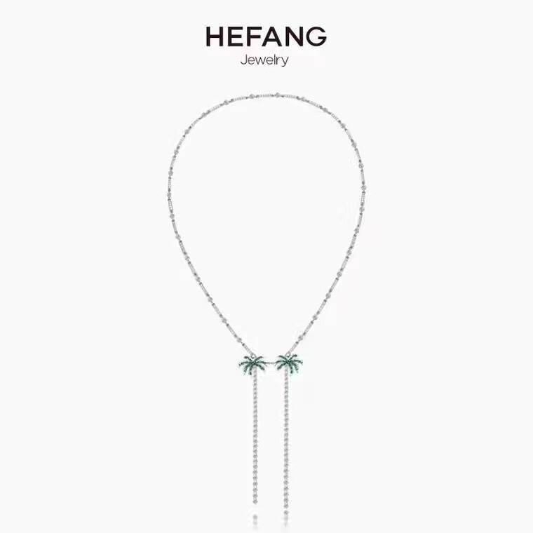 พร้อมส่ง สร้อยคอเพชร Hefang