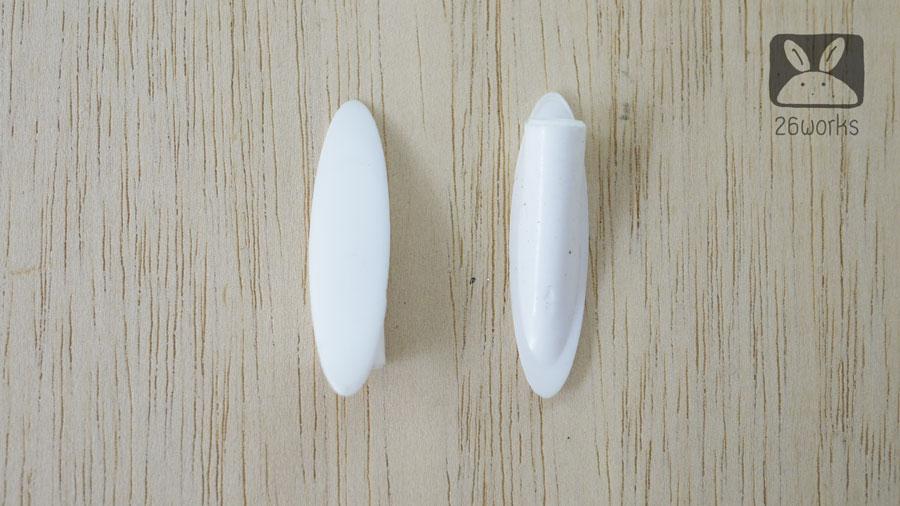 ฝาปิดรูเฉียง สีขาว รุ่นประหยัด ถุงละ 100 ตัว