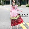ชุดเดรสเกาหลี พร้อมส่ง maxi dress แขนยาว