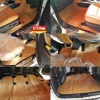 พรมปูพื่นรถ New Fortuner เต็มคันแบบหนังแท้ (สีชามัว) ตรงตามสีเบาะ รวมส่ง ปณ.