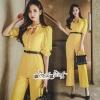 เสื้อผ้าเกาหลี พร้อมส่ง จั้มสูท โทนสีเหลืองสดใส