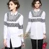 เสื้อเกาหลี พร้อมส่ง เสื้อเชิ้ต ตัวยาว เนื้อผ้า cotton 100%