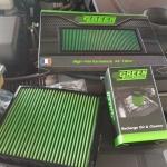 กรองอากาศ Green Filter ตรงรุ่น New Pajero sport (กรอง+นำ้ยา)