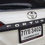 คิ้วไฟท้าย Fortuner ดำด้าน Logo ชุบโครเมี่ยม