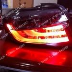 ไฟท้ายทรง BMW New Vios 2013 โคมแดง-สโมก